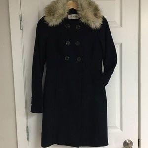 Esprit navy pea coat, size 2.